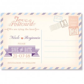 Postcard Save the Date Card