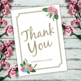 Pretty Posy Thank You Card