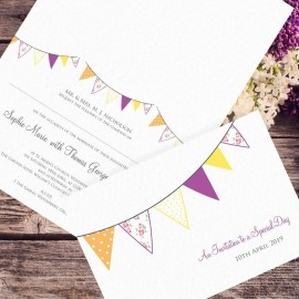 Yellow wedding invitations paper themes wedding invites purple wedding fete wedding invitation stopboris Gallery
