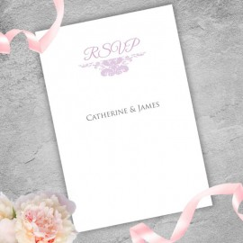 Purple Ethereal RSVP Card