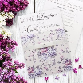 Happiness Flowers Wedding Invitation