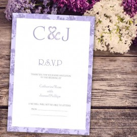 Purple Vintage Charm RSVP Card
