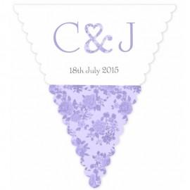 Vintage Charm Purple Wedding Bunting