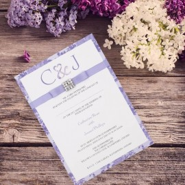 Purple Vintage Charm Wedding Invitation