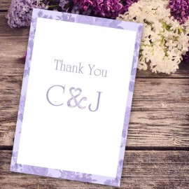 Purple Vintage Charm Thank You Card