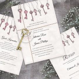 Love is the Key Wedding Invitation