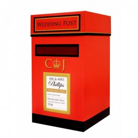Wedding Postbox Red