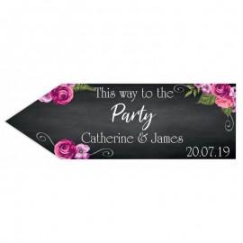 Romantic Chalkboard Wedding Arrow