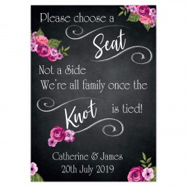 Romantic chalkboard Large Wedding Sign