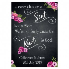 Romantic Chalkboard Welcome Sign