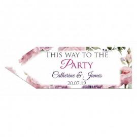 Rose Garden Wedding Arrow