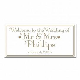 Signature Gold Wedding Banner