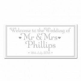 Signature Silver Wedding Banner