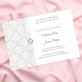 Silver Art Deco Wedding Invitation