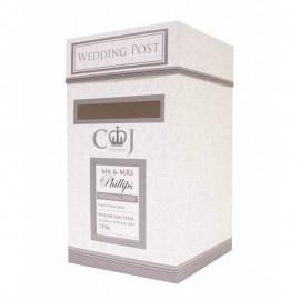 Wedding Postbox Silver