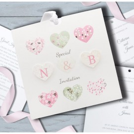 Special hearts Wedding Invitation