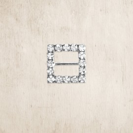 Tiny Square Crystal Buckle