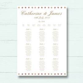 Sweet Inspiration Wedding Table Plan
