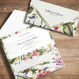 Tropical Charm Wedding Invitation