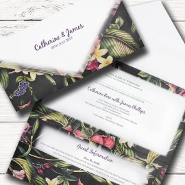 Tropical Splendour Wedding Invitation
