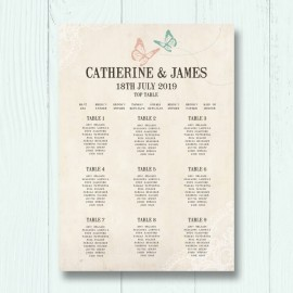 Truly Madly Deeply Wedding Table Plan