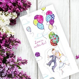 Up Up & Away Wedding Invitation