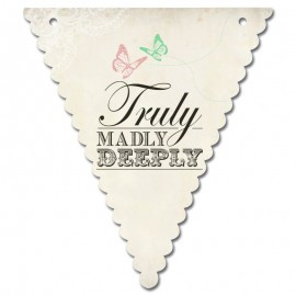 Truly Madly Deeply Wedding Bunting