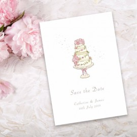 Four Ever Save the Date Card