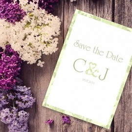 Green Vintage Charm Save the Date Card