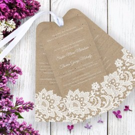 Wedding Lace Wedding Invitation