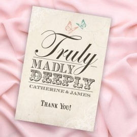 Truly Madly Deeply Thank You Card