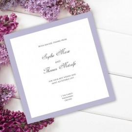 Violet Diamante Buckle Thank You Card