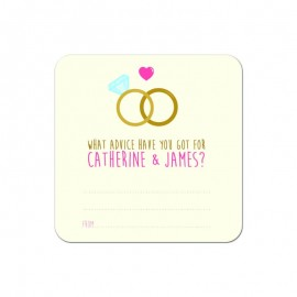 Wedlock Advice Wedding Coaster - Pack of 24