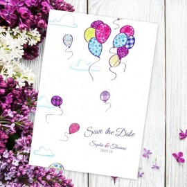 Up Up & Away Save the Date Card