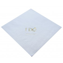 White Personalised Napkins