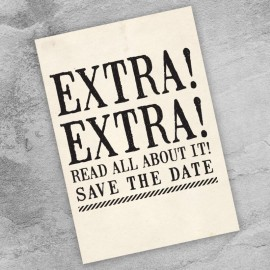 Read All About It Save the Date Card