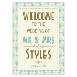 Art Deco Small Welcome Sign