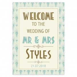 Art Deco Large Welcome Sign