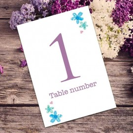 Best Day Ever Table Numbers - Pack of 10