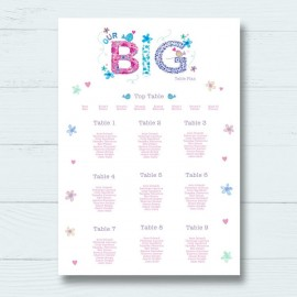 Best Day Ever Wedding Table Plan