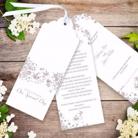 Blackbirds Wedding Invitation