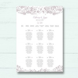 Blackbirds Wedding Table Plan
