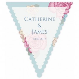 Bunting Fun Blue Wedding Bunting