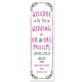 Bohemian Pop-Up Wedding Sign