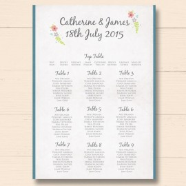 Book of Love Wedding Table Plan