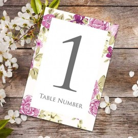 Bouquet Table Numbers - Pack of 10
