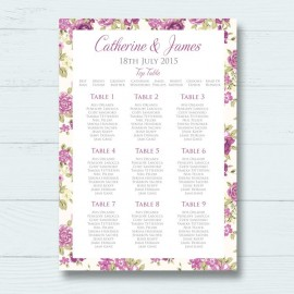 Bouquet Wedding Table Plan