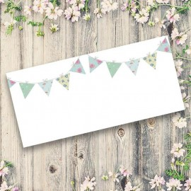 Bunting Fun Wedding Place Card