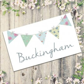 Bunting Fun Table Names - Pack of 10