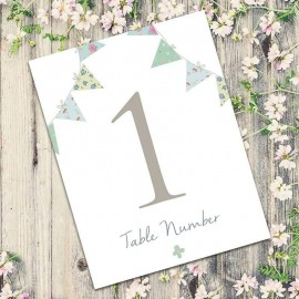 Bunting Fun Table Numbers - Pack of 10